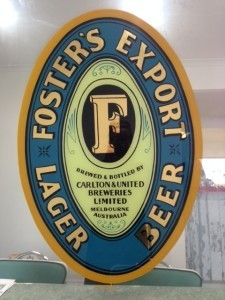 Fosters Gold leaf mirror